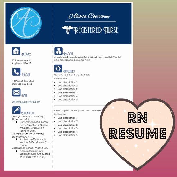 Registered Nurse Resume Template Word Unique 17 Best Images About Nursing Resumes On Pinterest