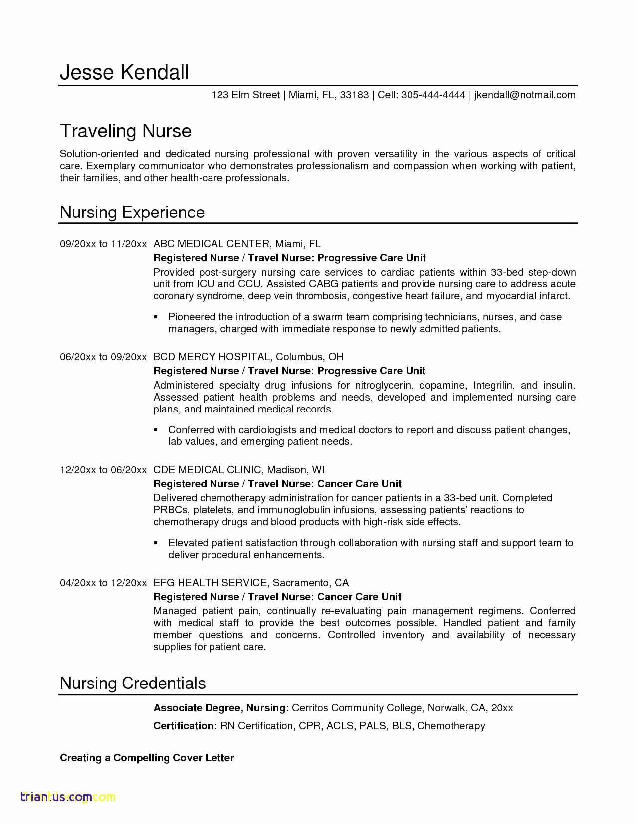 Registered Nurse Resume Template Word Unique Bestse Resume Template Rn Examples Free Registered Word