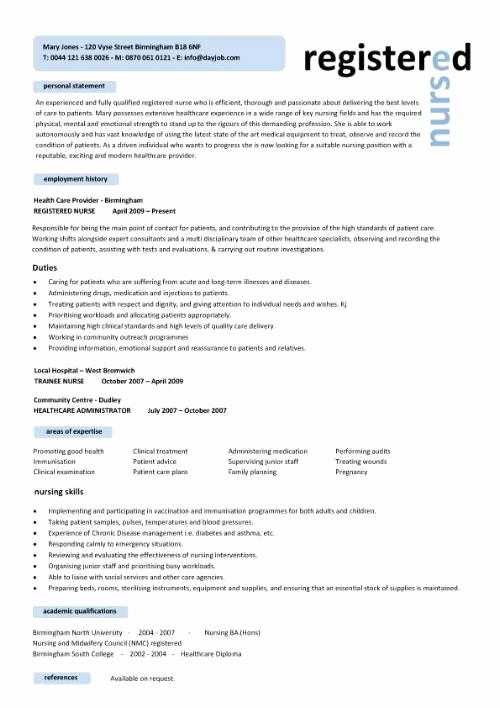 Registered Nurse Resume Template Word Unique Free Professional Resume Templates