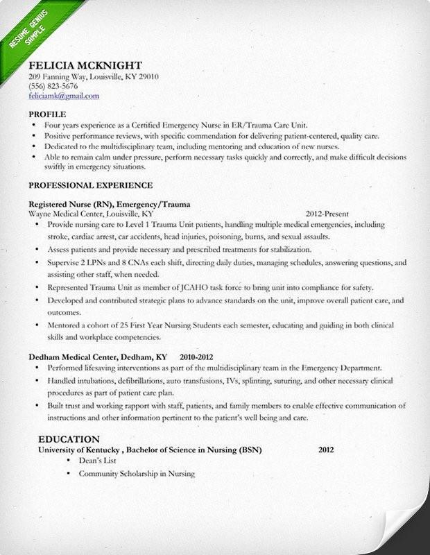 Registered Nurse Resume Template Word Unique Nursing Resume Sample & Writing Guide