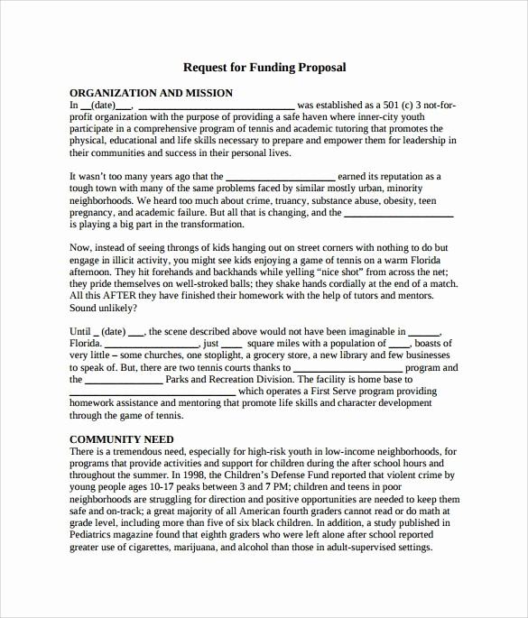 Request for Funds form Template Best Of 7 Funding Proposal Samples