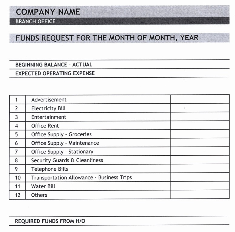 Request for Funds form Template Elegant General Knowledge Library Expense Report Template