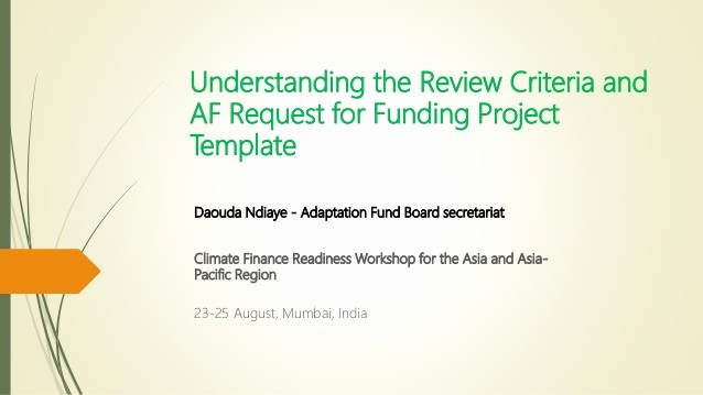 Request for Funds form Template Unique Understanding the Review Criteria and Adaptation Fund