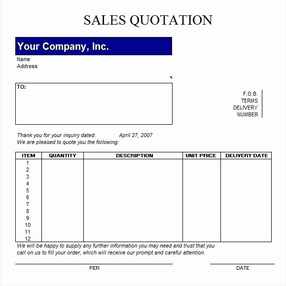 Request For Quote Template Word Fresh Quotation Template Word