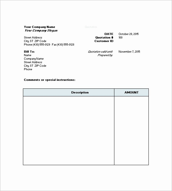 Request for Quote Template Word Lovely 7 Price Quote Templates Doc Pdf