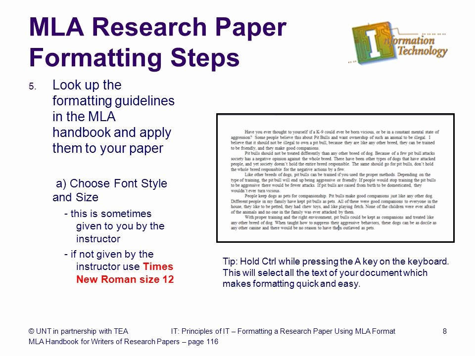 Research Paper In Mla format Lovely formatting A Research Paper Ppt