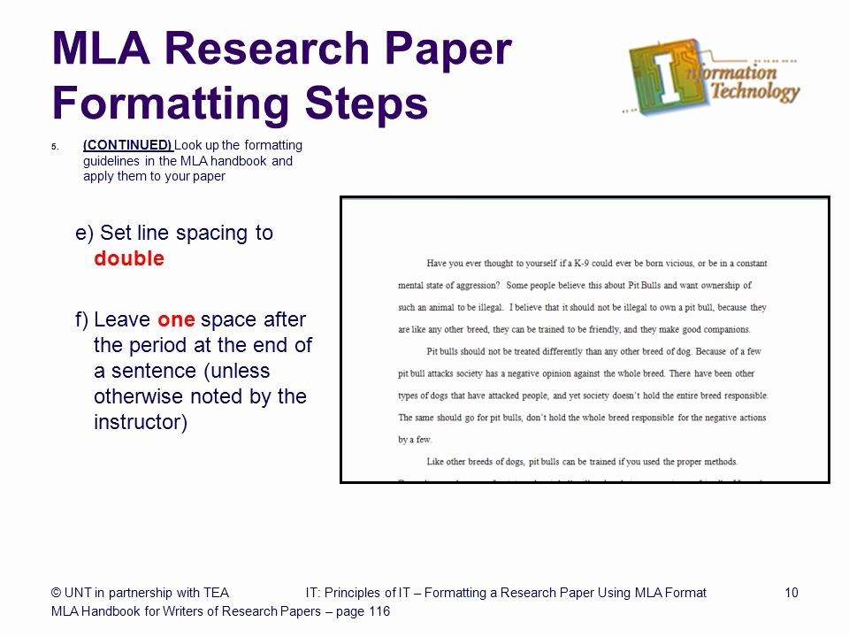 Research Paper In Mla format Unique formatting A Research Paper Ppt