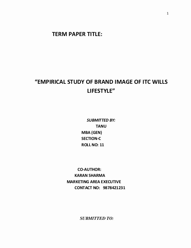 Research Paper Title Page Template Beautiful Term Paper Title
