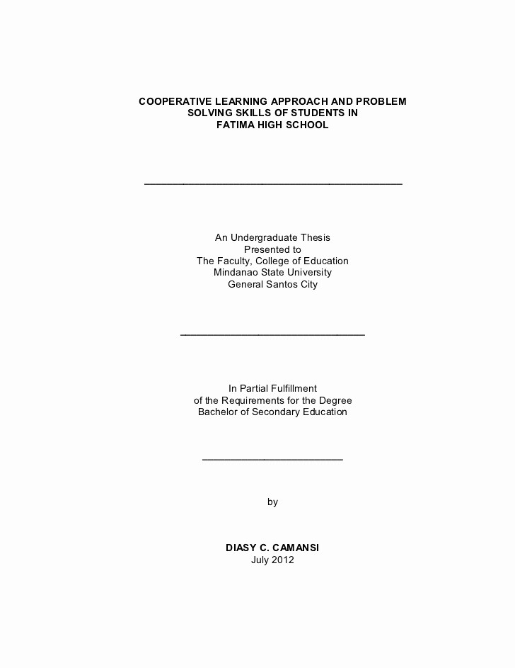 Research Paper Title Page Template Beautiful Title Page Final format