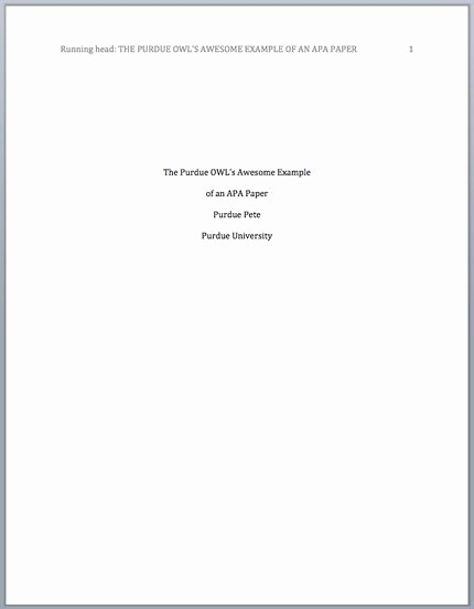 Research Paper Title Page Template Best Of Research Paper Guidelines Owl