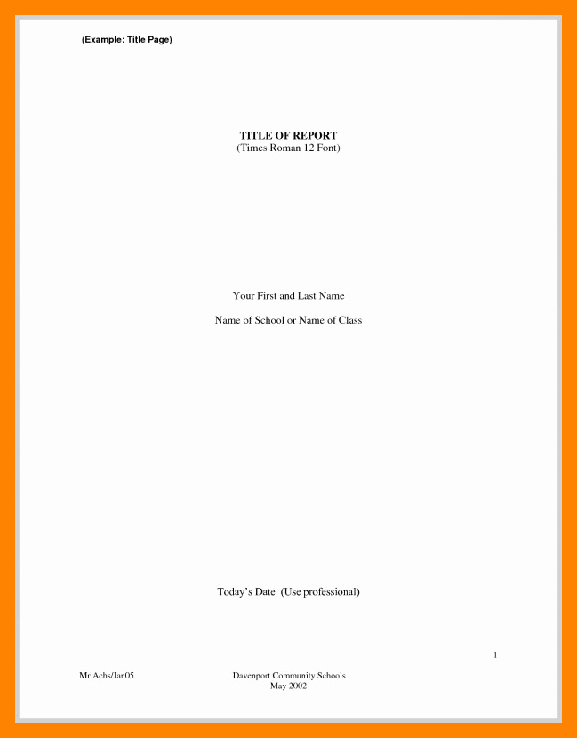 Research Paper Title Page Template Elegant 10 Apa Style Paper Title Page