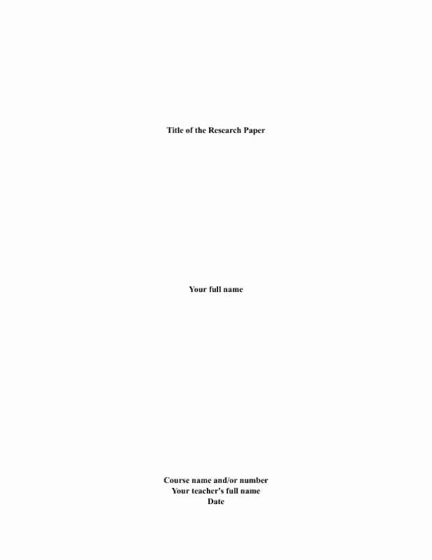 Research Paper Title Page Template Elegant 10 Best Of Cover Page for Research Paper Research