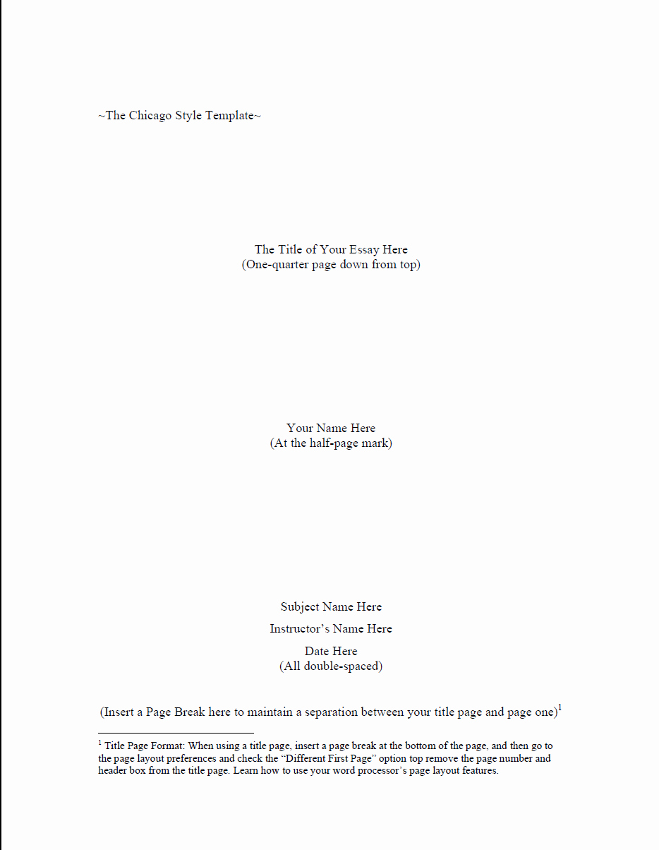 Research Paper Title Page Template Lovely Chicago Style Research Paper Writing Help Template