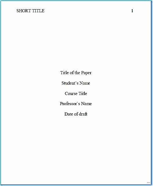 Research Paper Title Page Template New Apa Title Page Template Apa Title Page Template Fine