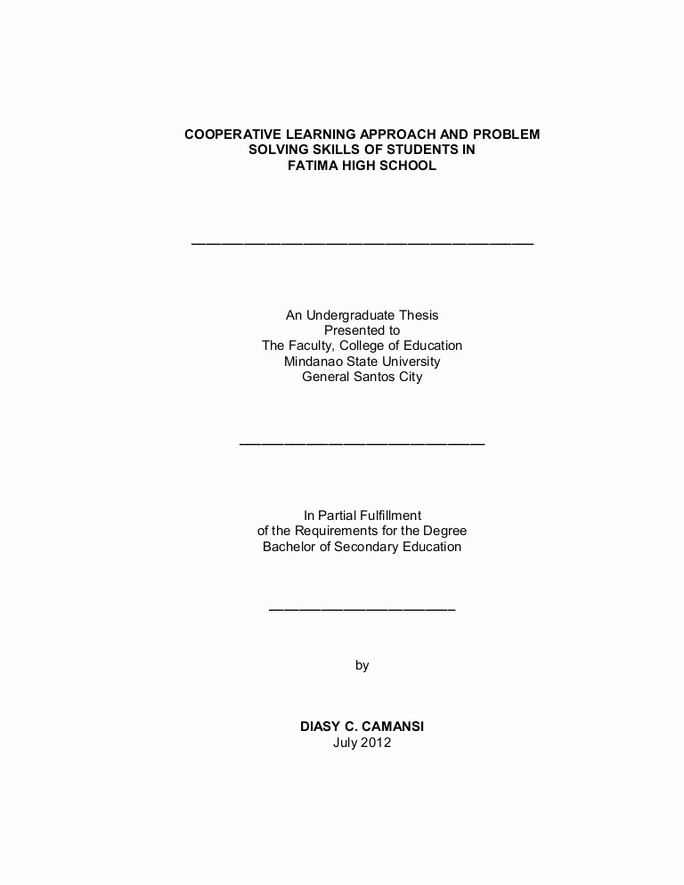Research Paper Title Page Template Unique Title Page Final format