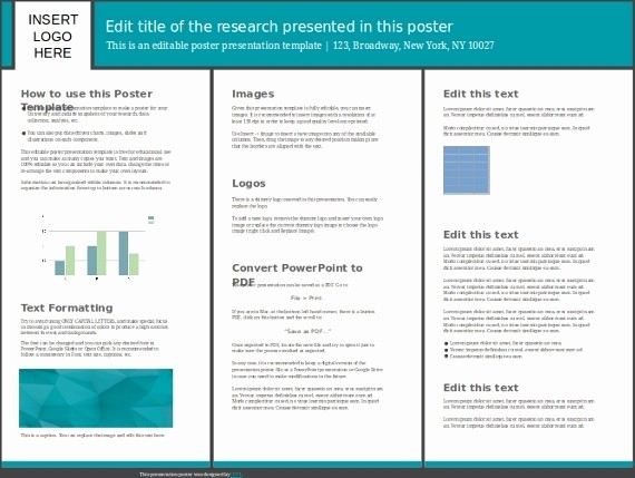 Research Poster Template for Powerpoint Beautiful Poster Presentation Template 30x40