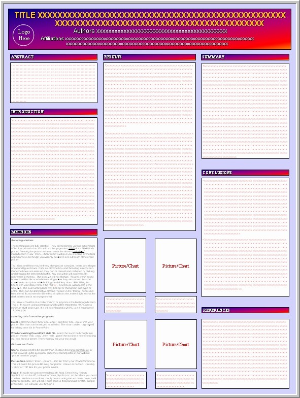 Research Poster Template for Powerpoint Inspirational Blank Poster Presentation Template