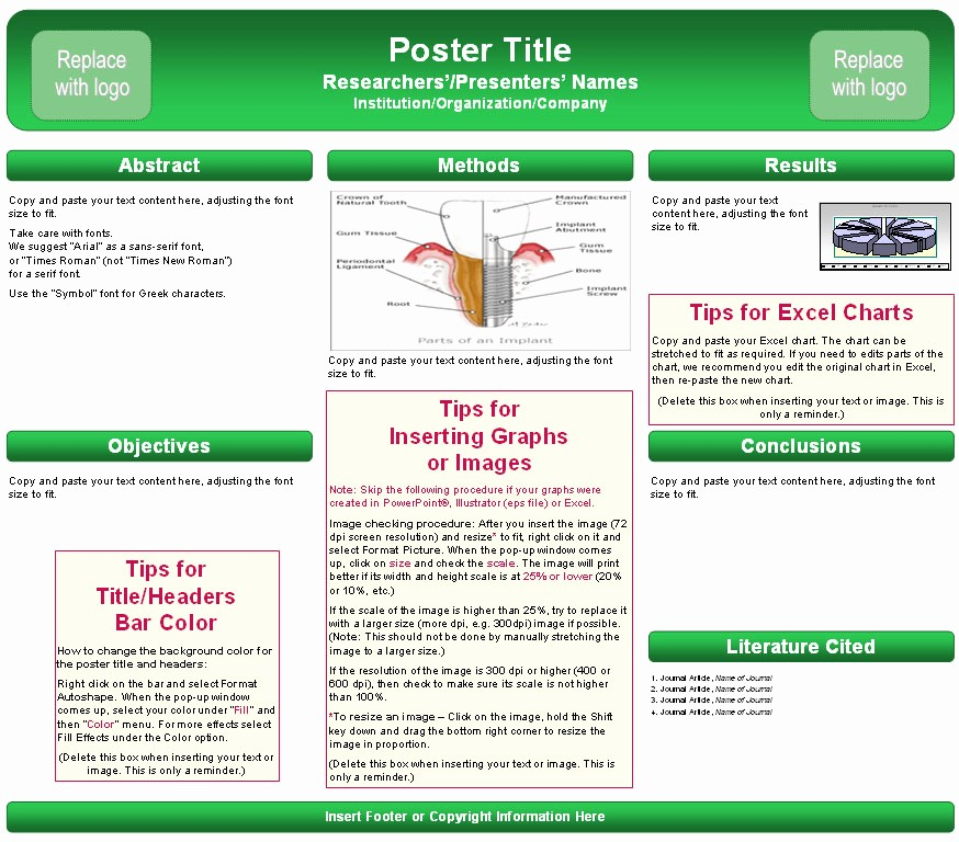 Research Poster Template for Powerpoint Inspirational Dissertation Poster Presentation