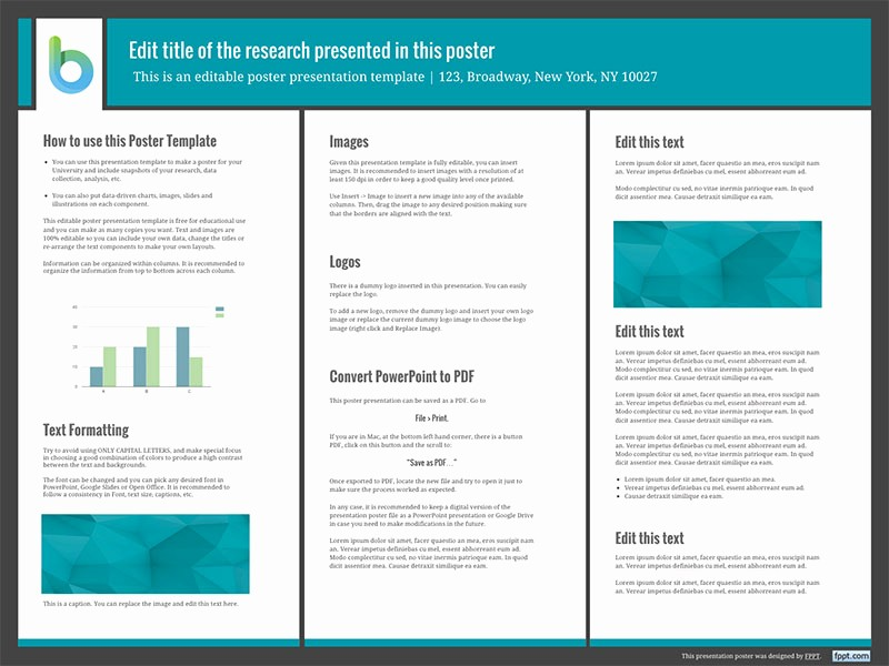 Research Poster Template for Powerpoint Lovely Presentation Poster Templates Free Powerpoint Templates