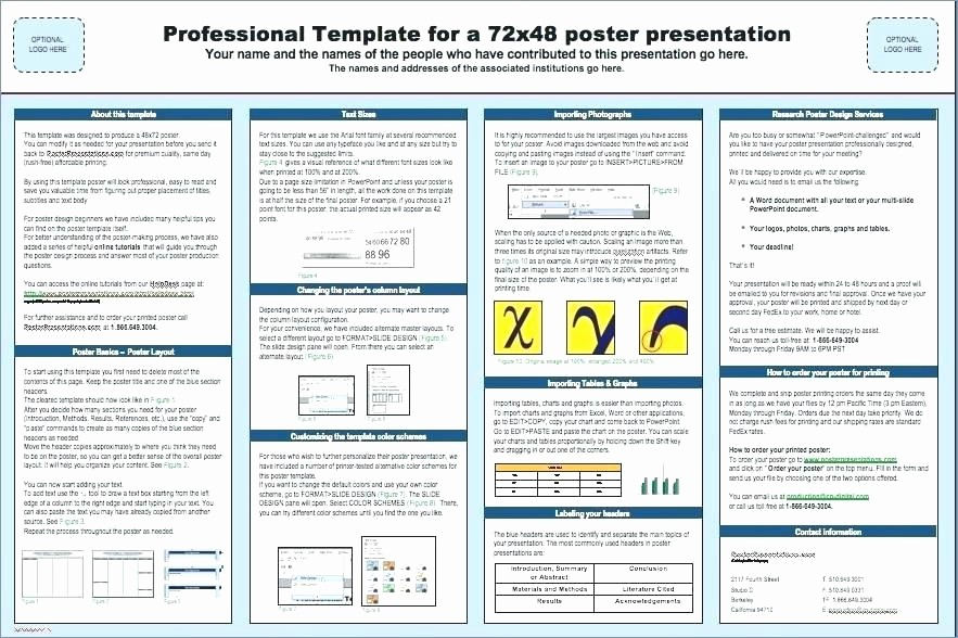 Research Poster Template for Powerpoint Luxury Poster Presentation Template X Free A2 Powerpoint