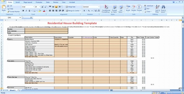 Residential Construction Cost Breakdown Excel Fresh 14 Lovely Cost Breakdown Template Davidklinghoffer