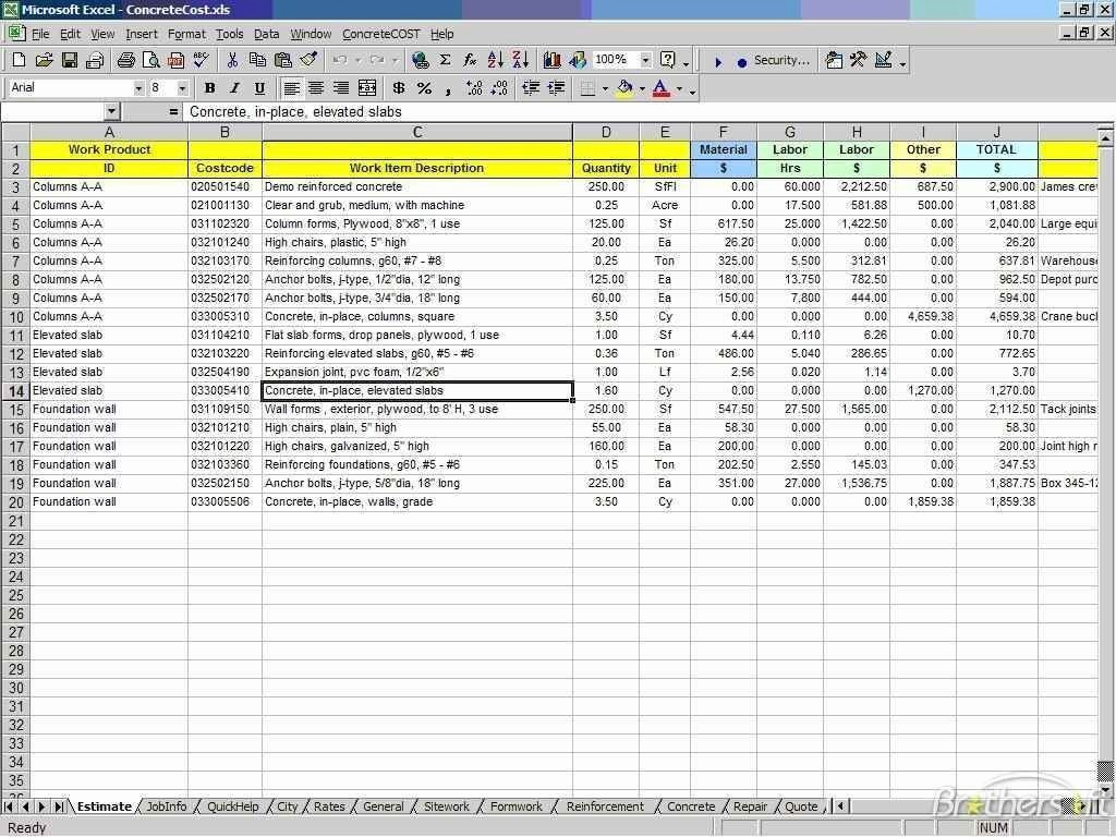 Residential Construction Cost Breakdown Excel Luxury New Home Construction Estimate Spreadsheet with Home