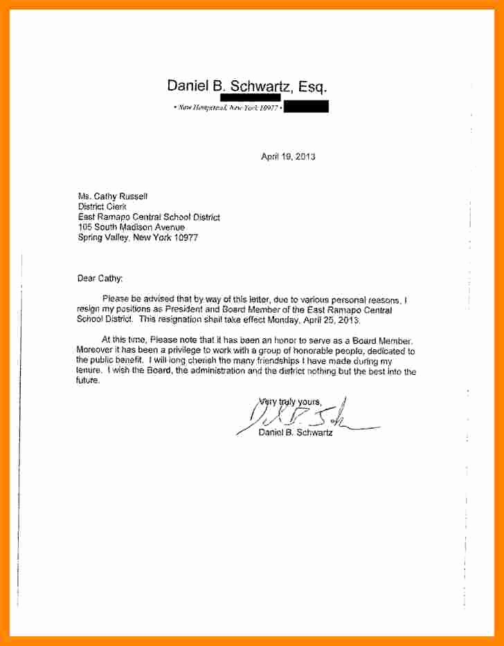 Resignation From Board Of Directors Best Of 9 Letters Of Resignation From A Board