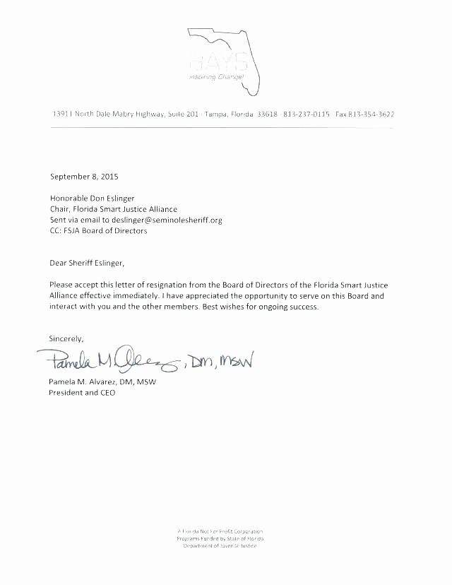 Resignation From Board Of Directors Elegant Board Member Resignation Letter Sample – Trezvost
