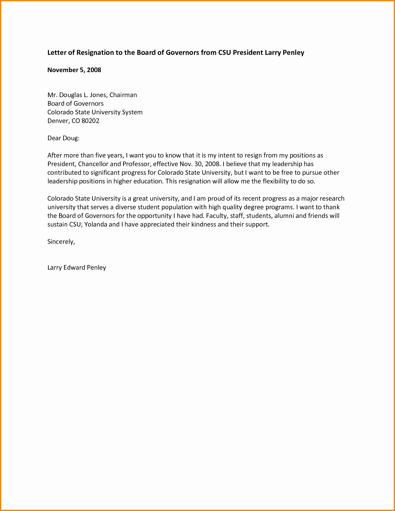 Resignation From Board Of Directors Fresh Resignation Letter From Board Directors Template