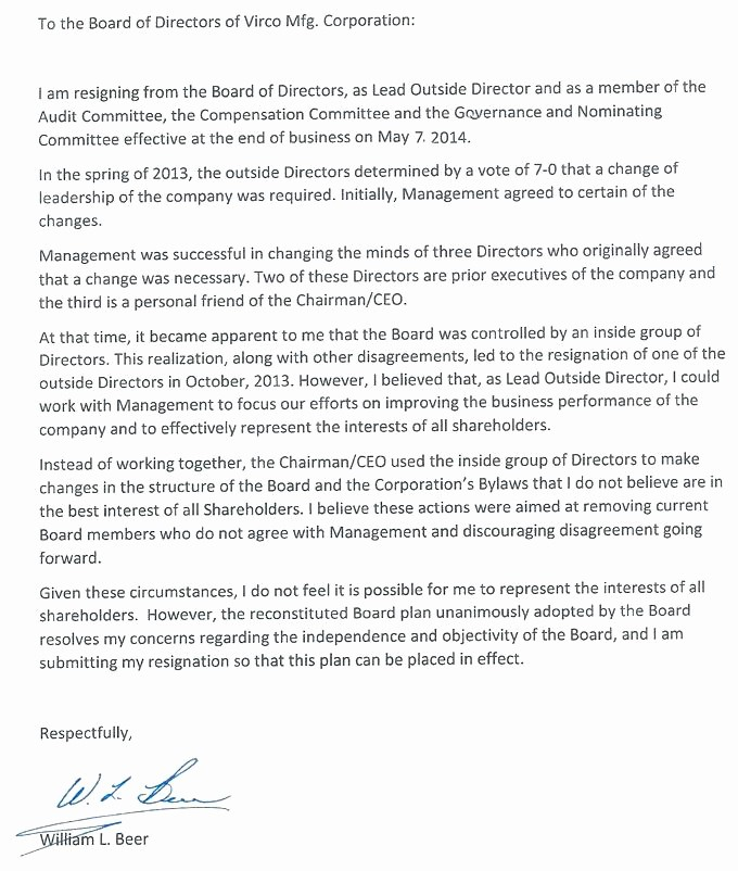 Resignation From Board Of Directors Inspirational Non Profit Board