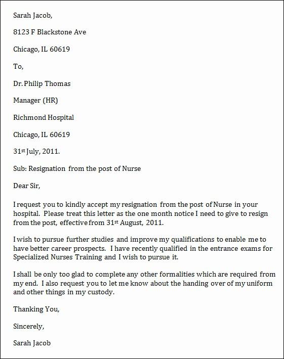 Resignation Letter Due to Harassment Inspirational Sample Nurse Resignation Letter