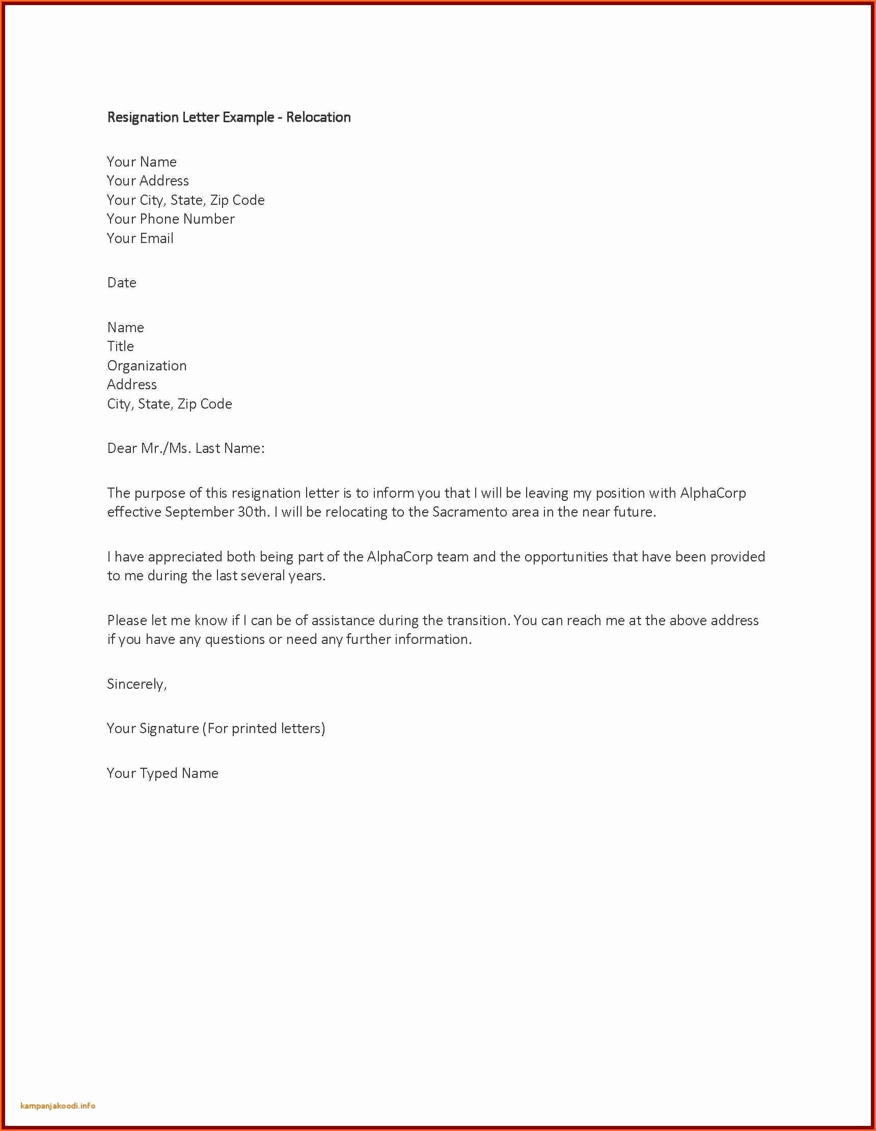 Resignation Letter Due to Harassment Lovely Sample Resignation Letter Due to Personal Reason New