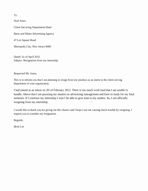Resignation Letter Due to Harassment New How to Resign From Your Internship