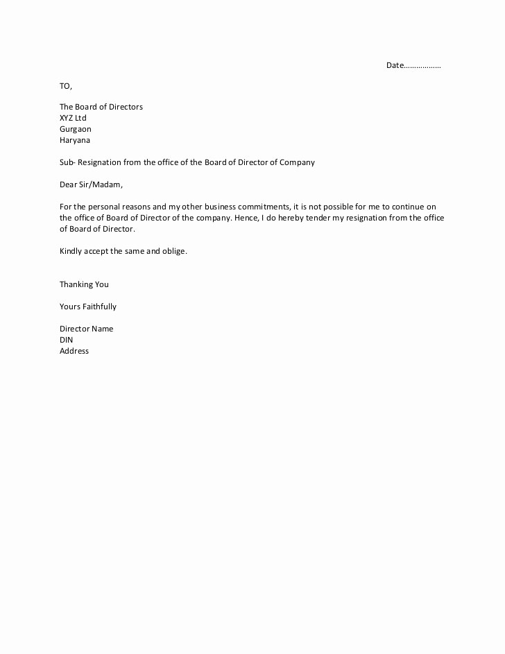 Resignation Letter From Nonprofit Board Awesome How to Write Letter Resignation From Board