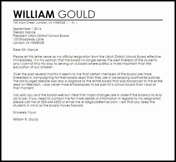 Resignation Letter From Nonprofit Board Best Of Sample Letter Board Resignation Tripevent