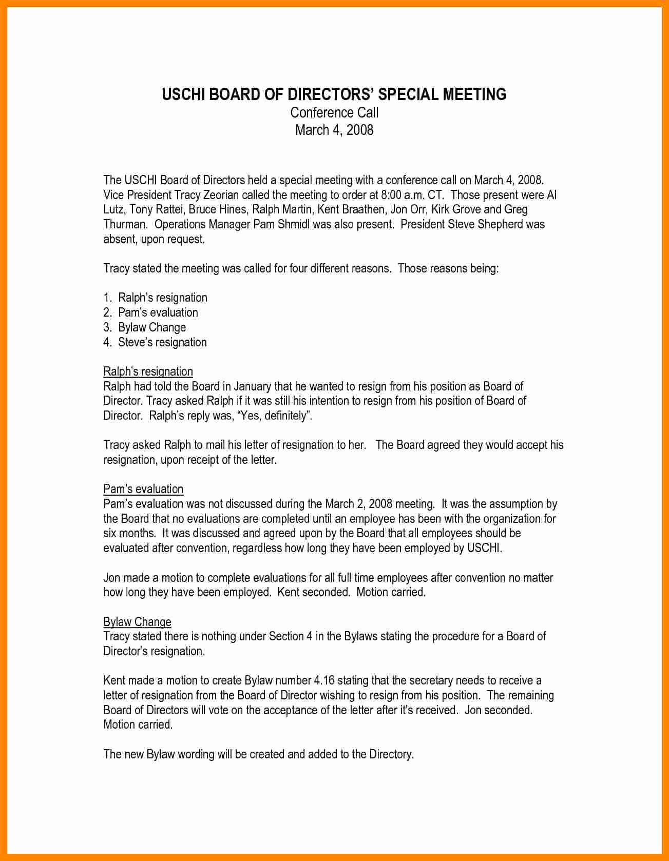 Resignation Letter From Nonprofit Board Inspirational 5 Board Of Directors Resignation Letter Sample