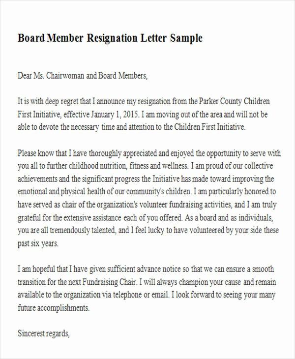 Resignation Letter From Nonprofit Board Inspirational 6 Sample Membership Resignation Letters