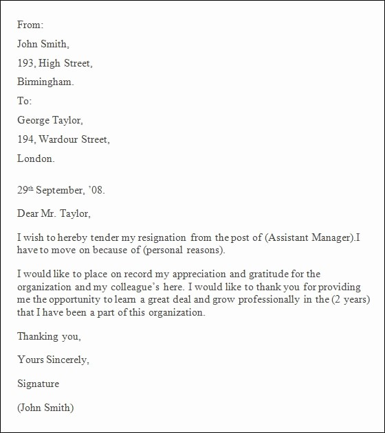 Resignation Letter Template Word Doc Best Of 5 Professional Resignation Letter – Pdf Doc