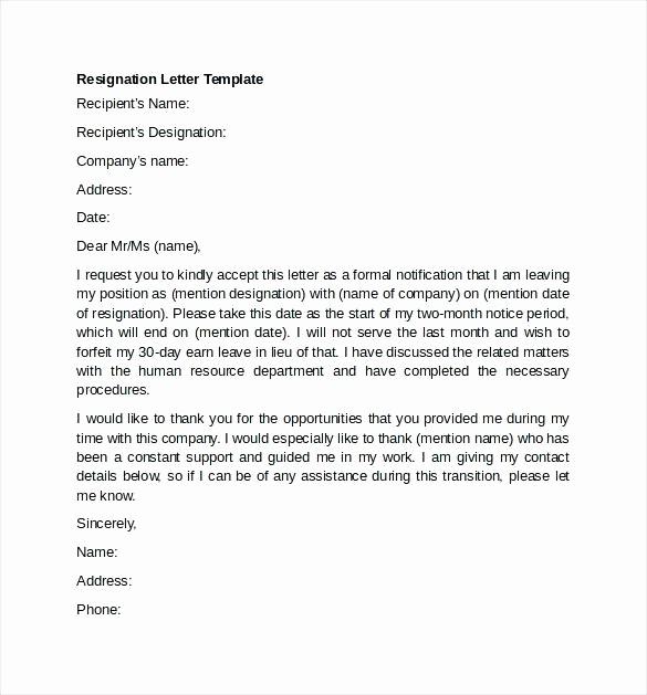 Resignation Letter Template Word Doc Best Of Resignation Letter Sample Doc India