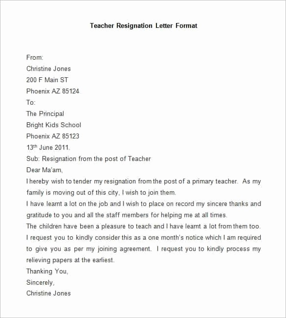 Resignation Letter Template Word Doc Elegant 6 Resignation Letter format In Word File