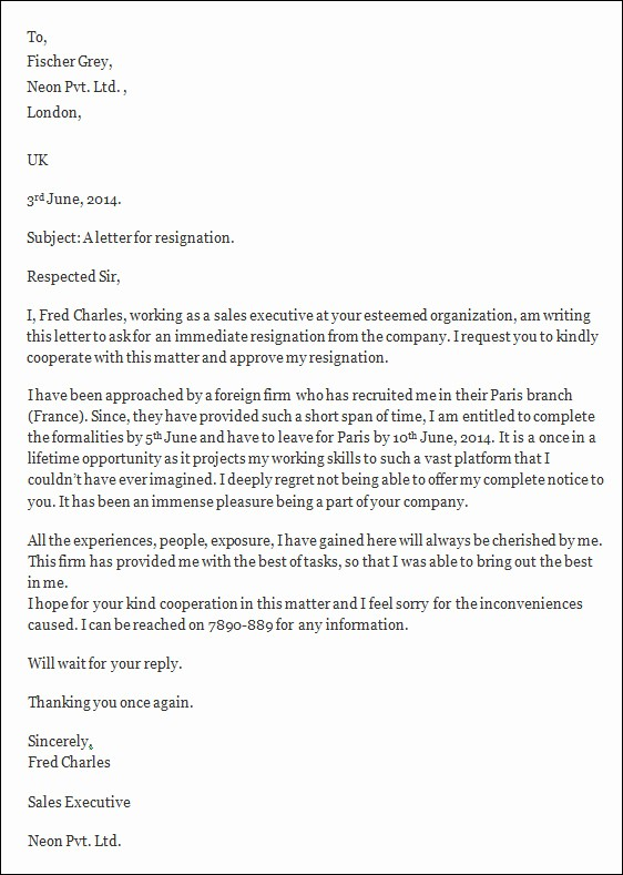 Resignation Letter Template Word Doc Fresh Resignation Letters 35 Download Free Documents In Word