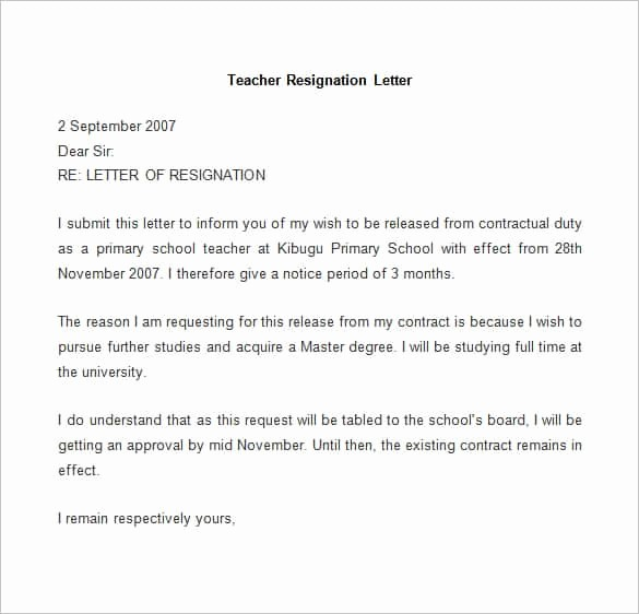 Resignation Letter Template Word Doc New 69 Resignation Letter Template Word Pdf Ipages