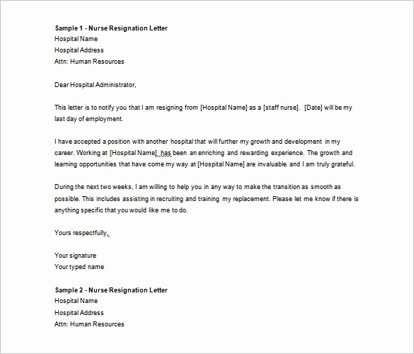 Resignation Letter Template Word Doc New Resignation Letter Template – 40 Free Word Pdf format