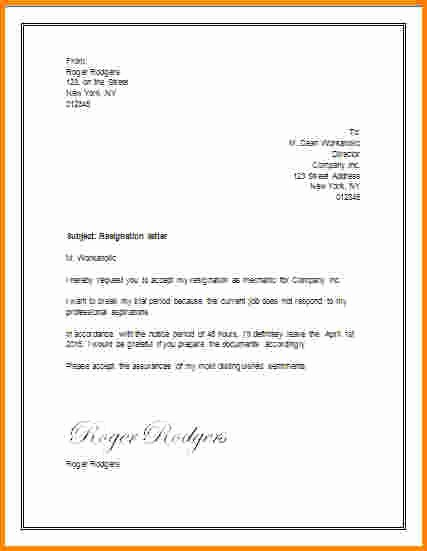 Resignation Letter Template Word Doc Unique Letter Templates In Word Staruptalent