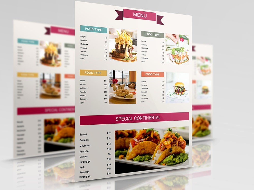 Restaurant Menu Template Free Download Awesome 50 Free Psd Restaurant Flyer Menu Templates