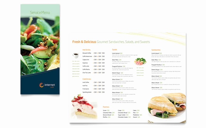 Restaurant Menu Template Free Download Awesome Free Restaurant Menu Templates