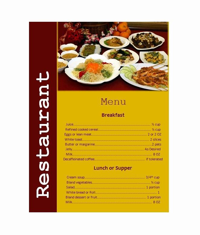 Restaurant Menu Template Free Download Beautiful 30 Restaurant Menu Templates & Designs Template Lab