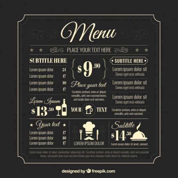 Restaurant Menu Template Free Download Beautiful 50 Free Food & Restaurant Menu Templates Xdesigns