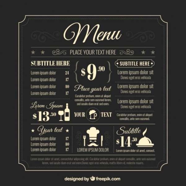Restaurant Menu Template Free Download Beautiful 50 Free Food & Restaurant Menu Templates Xdesigns