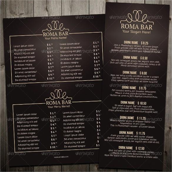 Restaurant Menu Template Free Download Beautiful Bar Menu Templates – 35 Free Psd Eps Documents Download